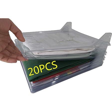 Nifogo Organizador de Armario el hogar Estantería Plegable Estante de Almacenamiento Organizador Plegable Apilamiento Camisas Camiseta Folder (20Pack)