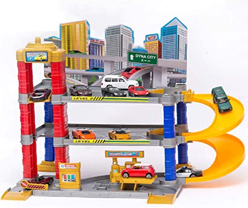 Ultimative Garage Playset, City Parking, Circling Alloy Auto Track Set , DreiStückiger Parkplatz , Kinder Spielzeugauto Geb e Geschenk