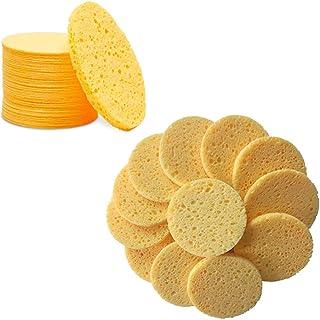 60 Pcs Facial Sponges Cleansing, Compressed Facial SpongeNatural Make Reusable, Professional Face Cleaning Sponge Pads for...