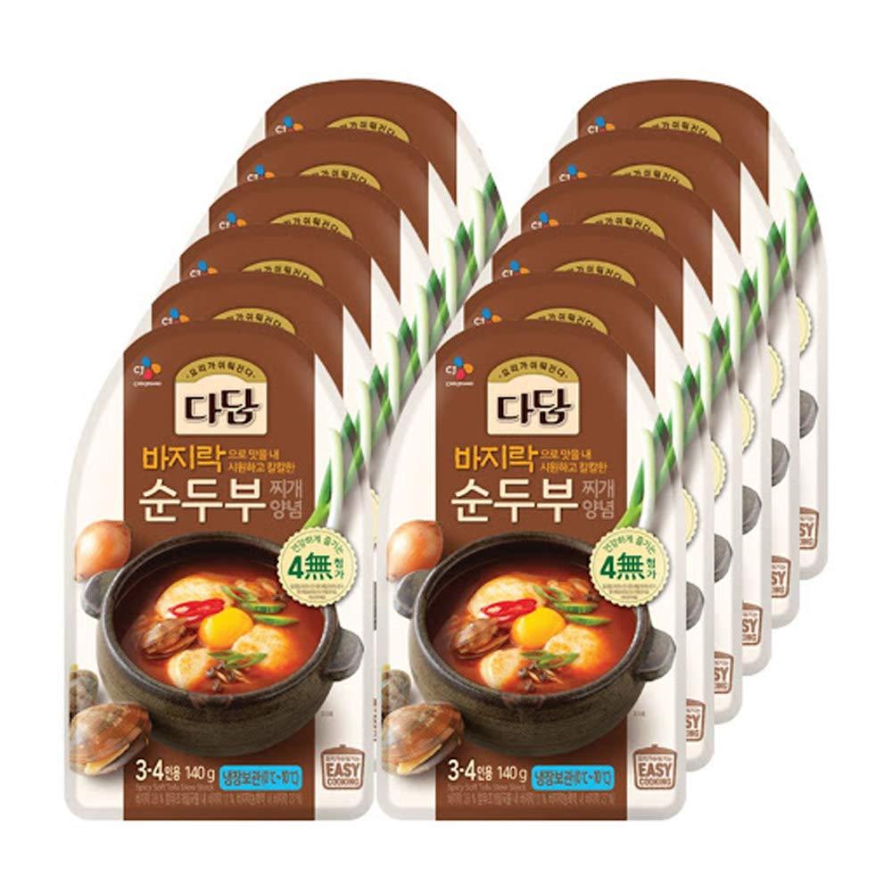 12 Packs CJ Dadam Elegant Soft Stew Seasoning security Tofu 순두ë¶Â