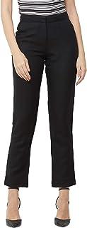 109 F Women's Blended Black Solid Pant