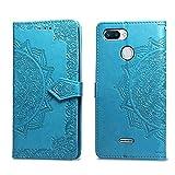 Bear Village Hülle für Xiaomi Redmi 6 / Redmi 6A, PU Lederhülle Handyhülle für Xiaomi Redmi 6 / Redmi 6A, Brieftasche Kratzfestes Magnet Handytasche mit Kartenfach, Blau