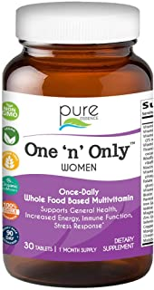 One N Only Multivitamin for Women by Pure Essence - Natural One a Day Herbal Supplement with Vitamin D, D3,...