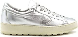 PHILIPPE MODEL Luxury Fashion Womens MCBI38446 Silver Sneakers | Season Outlet