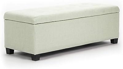 La Bella Storage Ottoman Fabric - Light Green