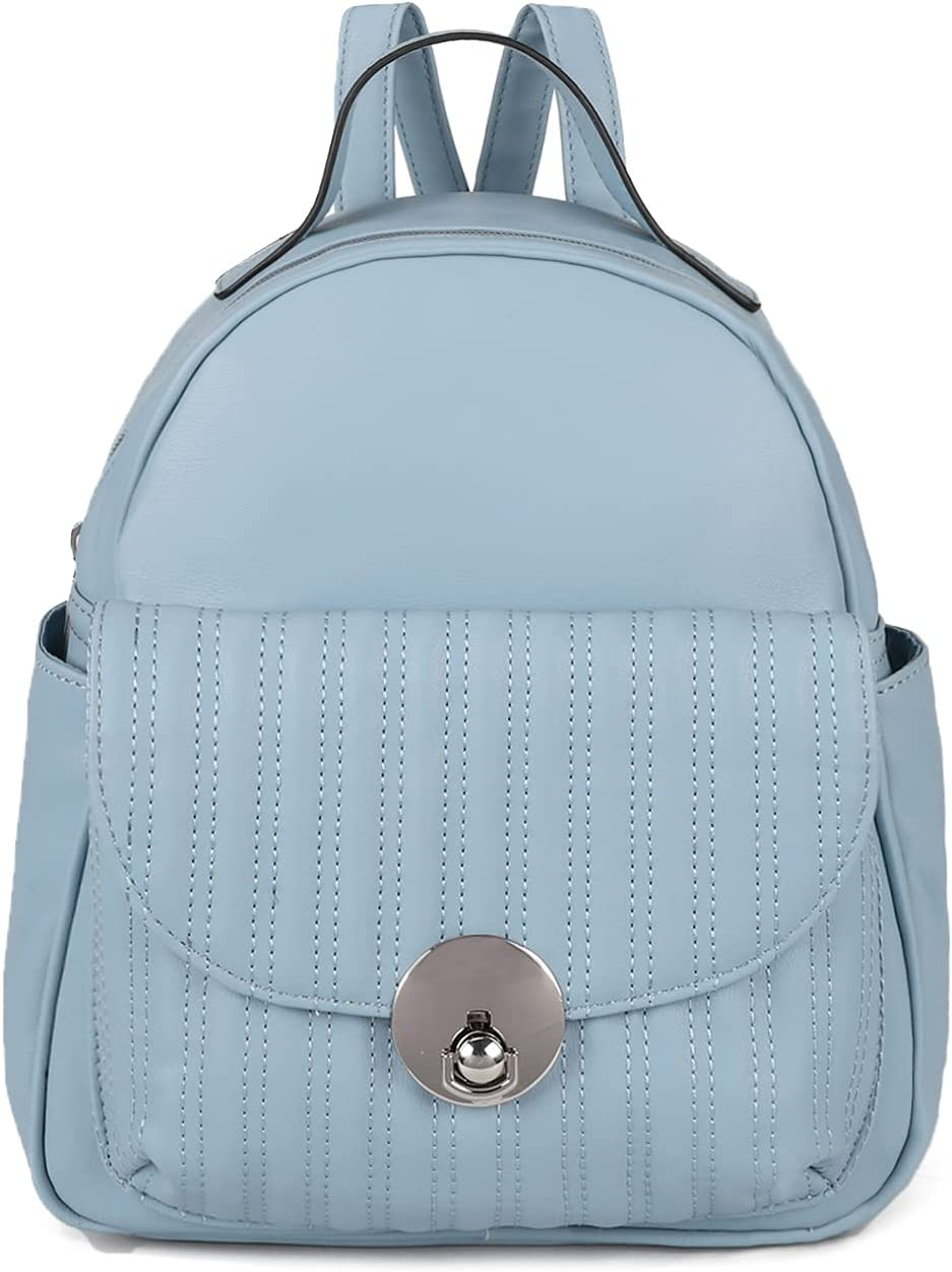 Cute Backpack Purse for Teen Girls Small Backpack Purse for Women with Large Capacity, PU Leather