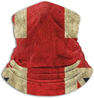 UK British Flag Unisex Winter Fleece Neck Warmer Gaiters Hairband Cold Weather Tube Face Mask Thermal Neck Scarf Outdoor Uv Protection Party Cover