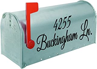 Mailbox Decal #9 Custom Personalized Vinyl Mailbox Decal SET OF 2-16 Colors To Choose From!