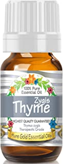 Pure Gold Thyme Zygis Essential Oil, 100% Natural & Undiluted, 10ml