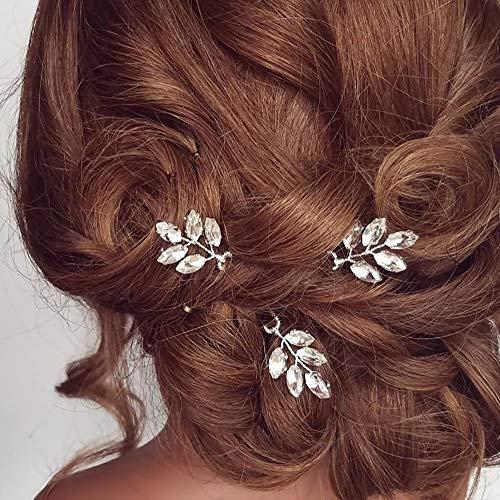 Deniferymakeup 3 Stück Strass Brautschmuck Haarnadeln Kristall Haarteile Brautschmuck Haarschmuck Hochzeit Haarschmuck
