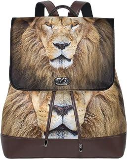 FAJRO Mochila de Piel de león Africano