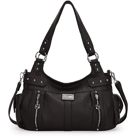 KL928 Tasche Damen Handtasche Umhängetasche shopper damen Henkeltaschen Damenhandtasche damentasche Lederhandtasche Hand Taschen für frauen (AK19244-3-black)