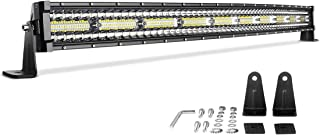 LED Light Bar 42'' Curved DWVO 600W Triple Row 40000LM PCS Upgrated Chipset Led Work Light for Driving Lights Boating Light IP68 WATERPROOF Spot & Flood Combo Beam Light Bars, 2 Year Warranty
