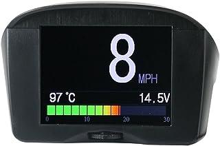 P10 Universal HUD Head Up Display OBD II Interfaccia Combustibile Avvertimento di Velocit/à Eccessiva Avviso RPM Consumo di Carburante Auto Elettronica Accessori
