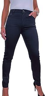 icecoolfashion Jeans Donna A Vita Alta in Tessuto Elasticizzato con Gamba Stretta 42-52