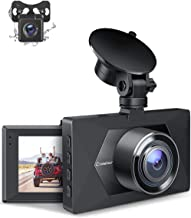 Crosstour Dual Dash Cam, Front and Rear Camera for Cars 1080P, SD Card Included, Car Driving Recorder with 170°Wide Angle, Loop Recording, WDR, Motion Detection, G-Sensor and Parking Monitor(CR350S)