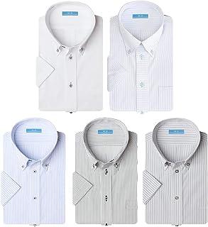 (ビジネススタイル アルフ) 半袖 ワイシャツ 5枚セット 夏 クールビズ ビジネス イージーケア 形態安定 Yシャツ/sa02al