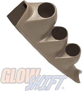 GlowShift Tan Triple Pillar Gauge Pod for 2000-2006 Chevrolet Chevy Silverado 1500 2500HD 3500HD Duramax - Factory Color Matched - ABS Plastic - Mounts (3) 2-1/16