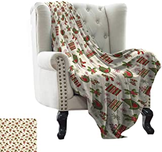 Littletonhome Blanket Sheets Surprise Boxes with Rich Patterns and Holiday Birds Bringing Mittens Socks Ultra Soft and Warm Hypoallergenic 60