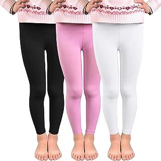 5dbb26fc141b7 Vertvie 3 Pcs Enfant Fille Leggings Doublé Polaire Fleece Chaud Hiver  Pantalon Stretch Collant Opaque pour