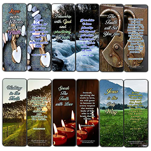Lesezeichen, christliche Bibelverse, 3000 Stück, 12 Stück (12-Pack) Verses Bookmarks Walking in the Truth (12-pack)
