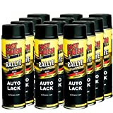 Motip Dupli - Fast Finish Autolack Rallye Spraydose 500ml schwarz matt 12 Stück