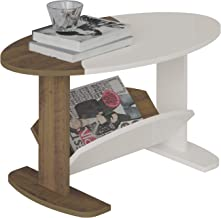 Artely Isis Coffee Table, Pine Brown with Off White - W 80 cm x D 45 cm x H 40 cm