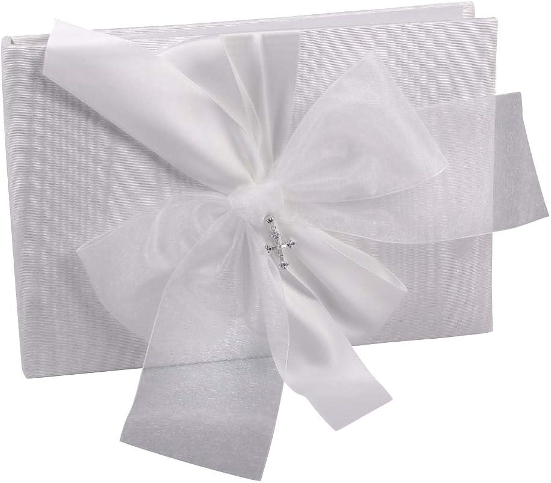 Ivy Lane Designs Beverly Clark Collection Grace, Gästebuch mit Kristall Kreuz Standard Weiß B001LNIMSC | Internationale Wahl