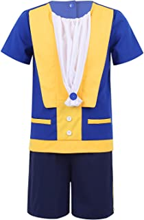 CHICTRY Beast Costume Shirts with Shorts Wedding Birthday Party Halloween Beastly Prince Dress up for Toddler and Baby Boys