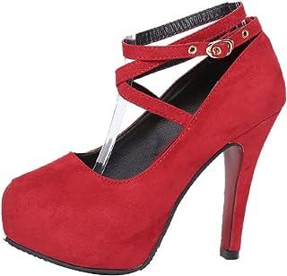 f8ac85ca Moda Nuevo Zapatos con Tacon Alto para Mujer Plataforma para Fiesta, Boda,  Ceremonia y