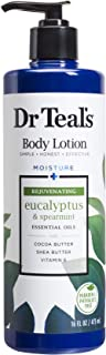 Dr Teal's Body Lotion Moisture Rejuvenating Eucalyptus & Spearmint, 16 fl oz Pack of 2