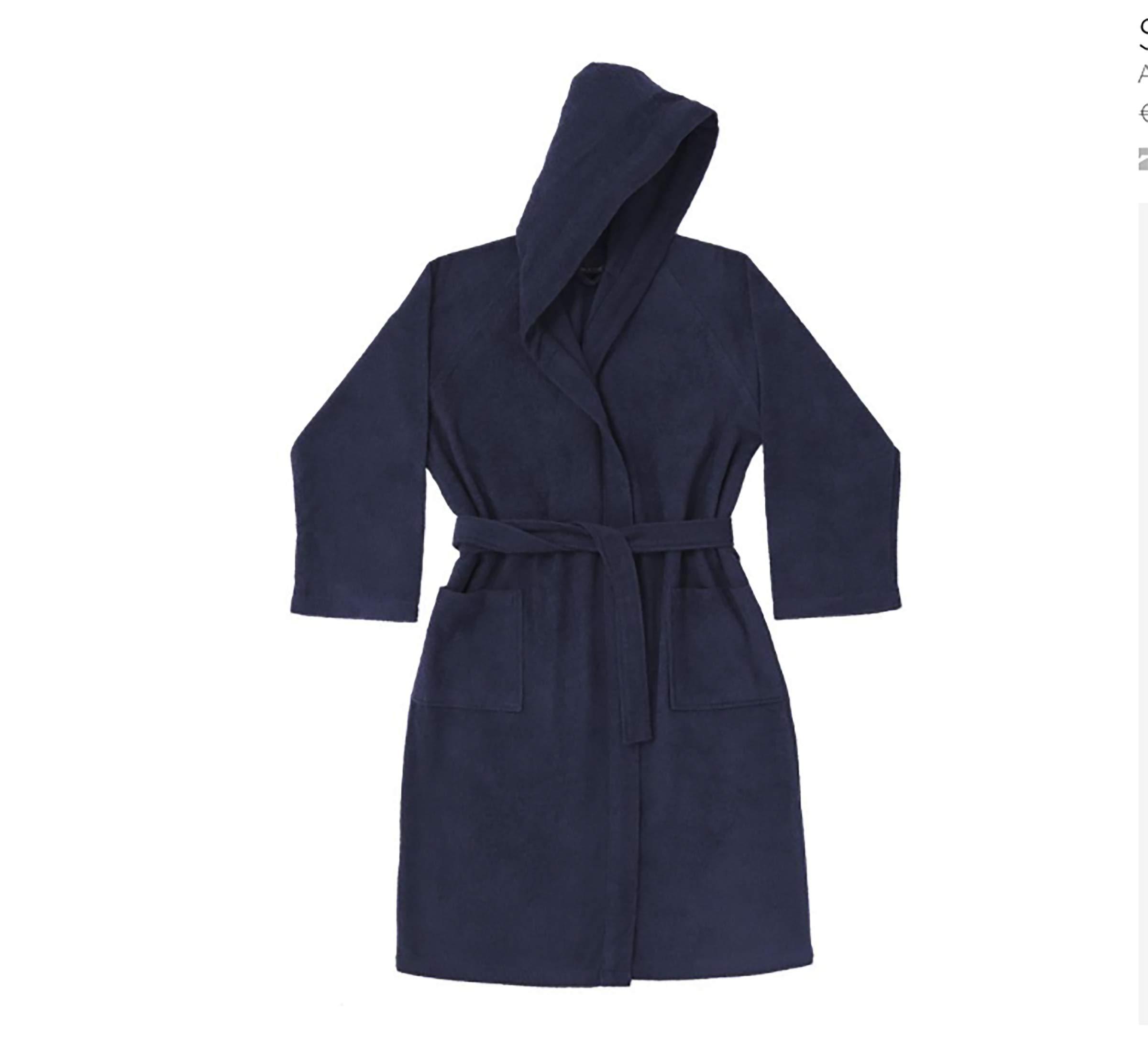Sofficepiuma.it - Albornoz para hombre y mujer con capucha de rizo de 400 g/m², producción exclusiva, dos bolsillos y cinturón: Amazon.es: Hogar