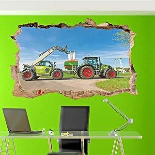 Tracteur tracteur champ agriculture Mural Sticker Autocollant f2142
