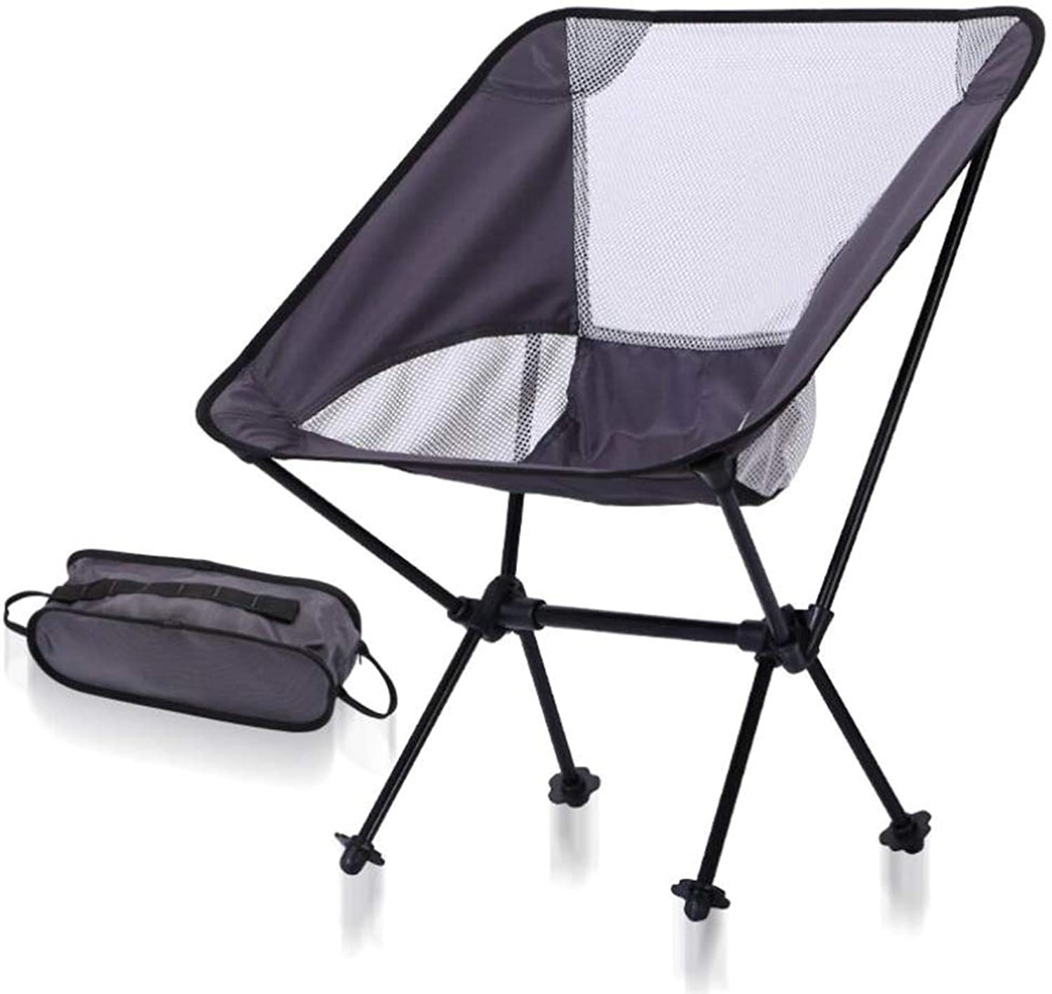 Folding Chair, Portable Aluminum Fishing Chair, Ultra Light Moon Chair, Suitable for Camping Hiking Gardening (color   04)