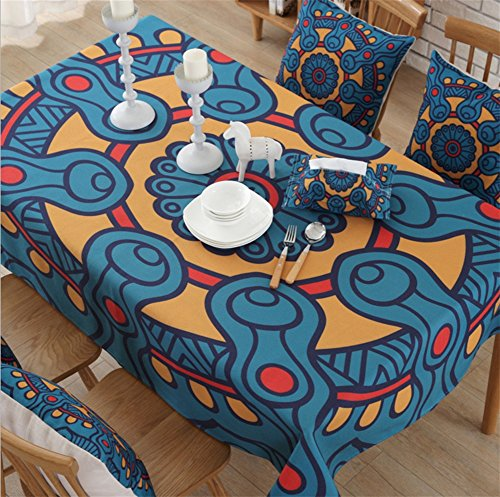CANBUTIA Nappes rectangulaires de Coton rectangulaires Plus épais Table de thé Nappe en Tissu Couverture Universelle Oreiller arrière, 140 * 200