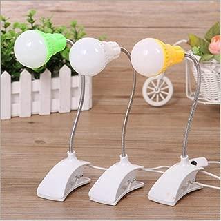QOTS con Clip Aprendizaje Oficina USB LED lámpara de Mesa Ahorro de energía 3 Ajuste de Archivo@Entrega al Azar