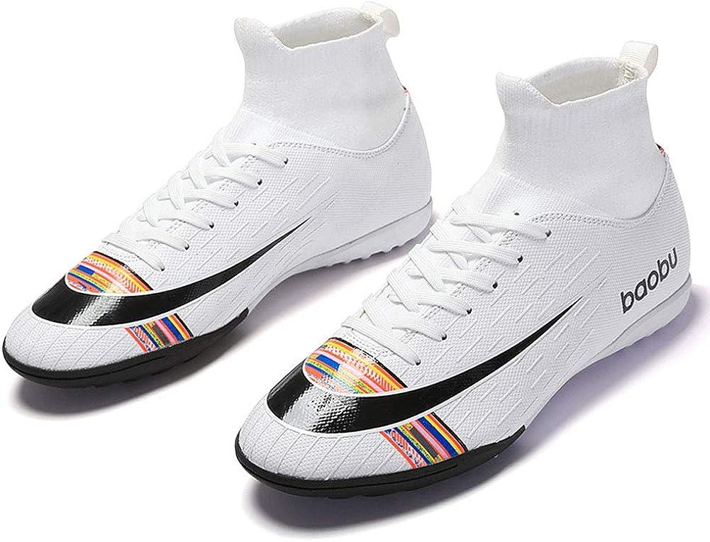SMXX Zapatos de f/útbol de Alta Ayuda para Hombres Zapatos de f/útbol Transpirables Juveniles Antideslizantes para Hombres y Mujeres