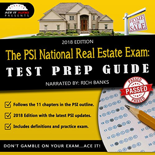 The PSI National Real Estate License Exam audiobook cover art