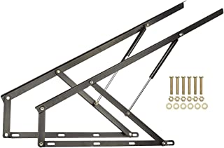 2 PCS 4FT Pneumatic Storage Bed Lift Mechanism Gas Spring Bed Storage Lift Kit Bed Storage Lift Hardware for Box Bed Sofa Storage Space Saving DIY Project Lifter Lift Up Hardware, Black