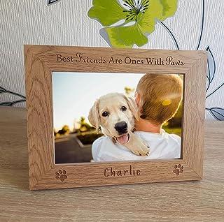 WNGGADH Cadre photo personnalisable pour chien et chat - 1 photo de 12,7 x 17,8 cm
