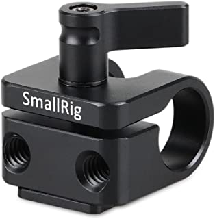 SMALLRIG Single 15mm Rod Clamp with Cold Shoe Adapter for 15mm Rods Support System, Monitor Mount, Microphone Mount - 1597