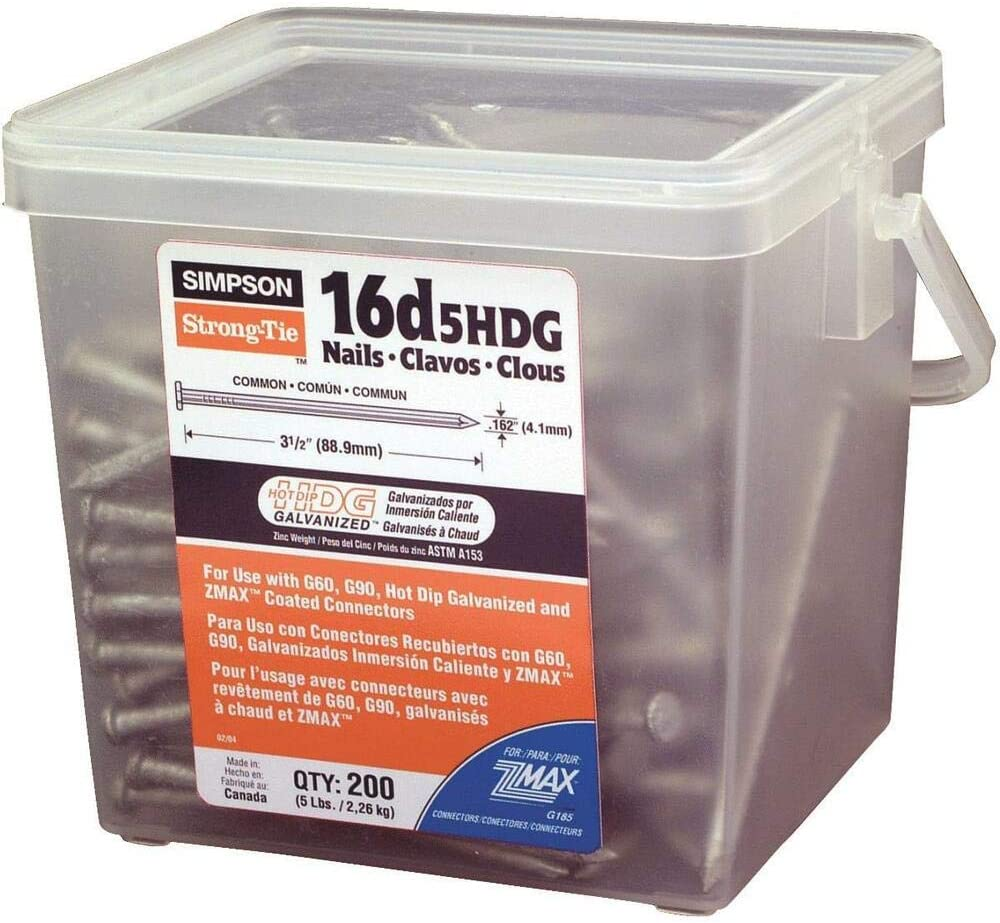 Selling unisex Hdg Common Nails Compatible with Strong-Tie 5Lb 16D Simpson