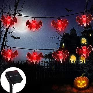 ZALALOVA Halloween Bat String Lights, 21.3Ft Solar Powered 30 Bat LEDs Waterproof Halloween Decoration Lights, 8 Modes for Indoor/Outdoor Halloween Thanksgiving Christmas Party Garden Yard Fence Decor