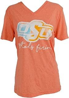 Calamity Jane Women's S/S V Watercolor Logo OSU Shirt