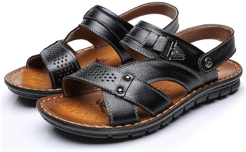 FuweiEncore Summer Sport Flip Flops Men's Beach Swimming Pool Sandals Slipper, khaki, 43 (color   Black, Size   43)