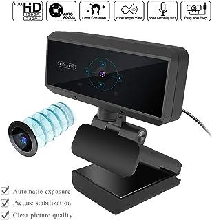 1080P Full HD Webcam Cámara para ComputadoraCámara Web Digital con Micrófono Incorporado para PC Computadoras Portátiles y de Escritorio