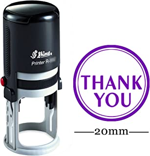 Thank You Round Self Inking Thank You Stamp 20mm Mini Shiny Mounted Rubber Stamp