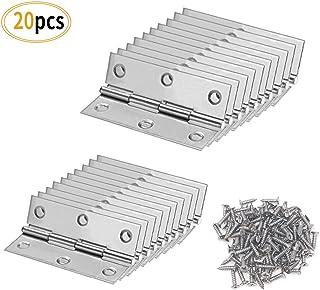 Karcy 2Pcs 3x2.4 Stainless Steel Heavy Duty Door Hinge for Cabinet Gate Closet Door Butt Hinge