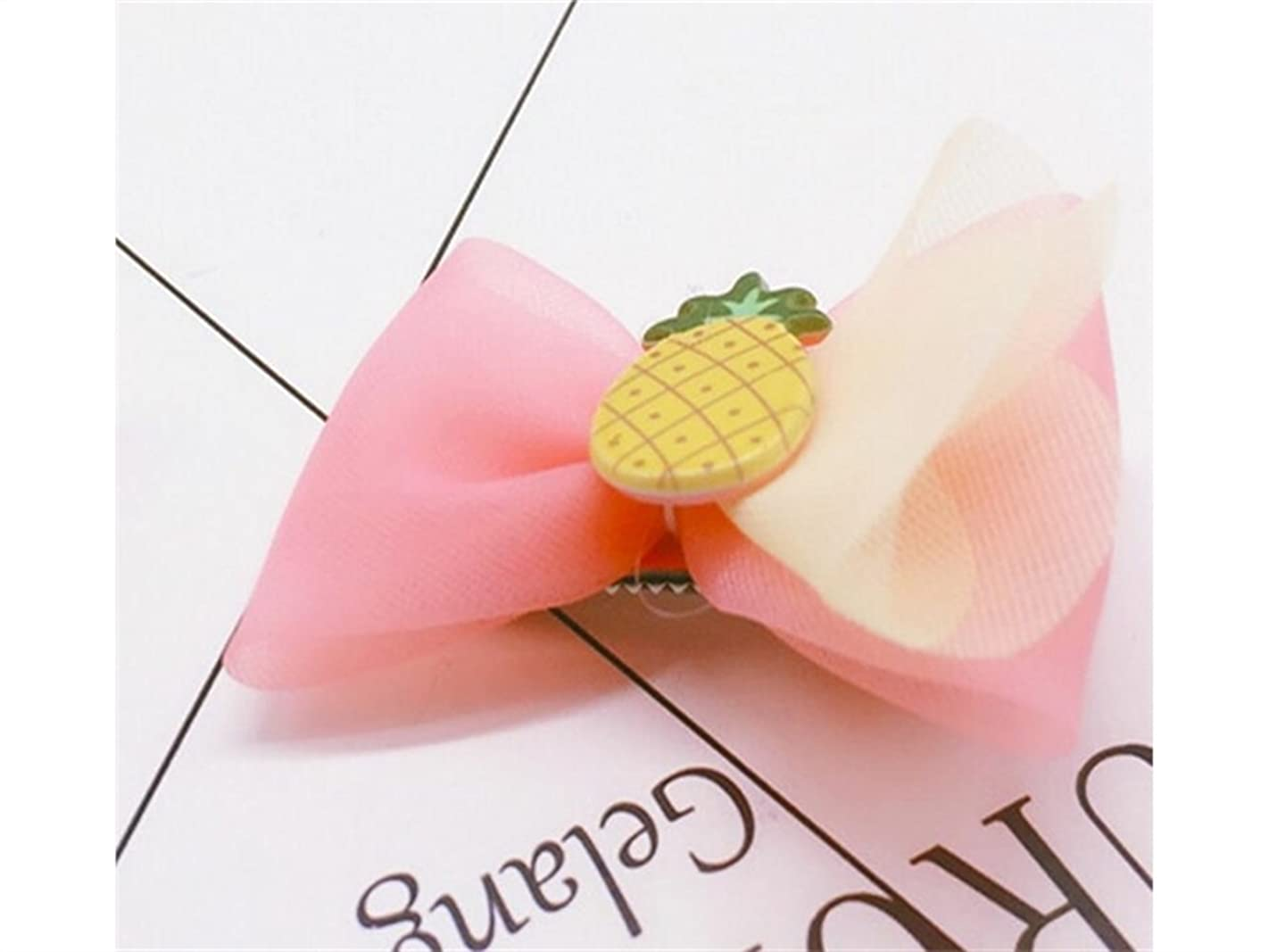硬化するすぐにフォローOsize 美しいスタイル フルーツヘアクリップ子供用キャンディーカラーダックビルクリップヘアピンアクセサリー(多色ランダム)