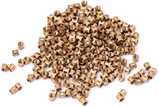 M3 Brass Cylinder Knurled Round Molded-in Insert Embedded Nuts 50Pcs Inserts M335.3
